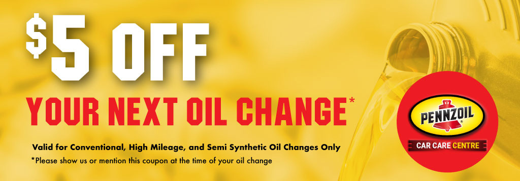 Pennzoil Car Care Centre Belleville - $5 Off Next Oil Change Coupon